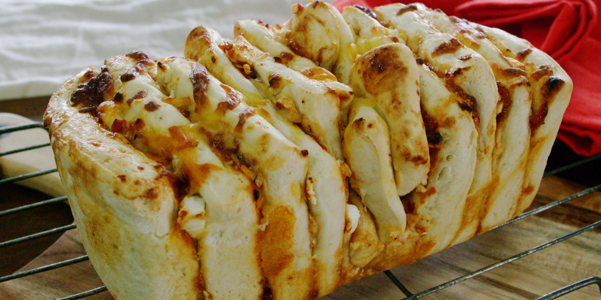 chilli cheese pull apart bread