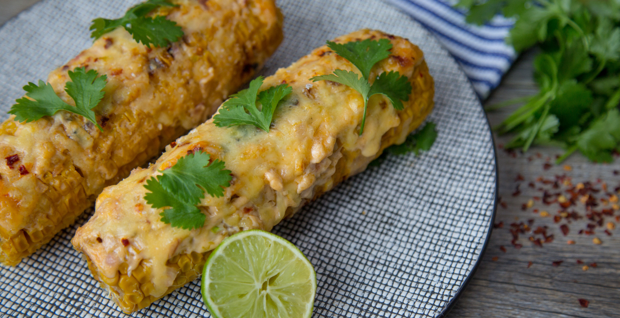 Grilled Corn with Chipotle Lime Mayonnaise