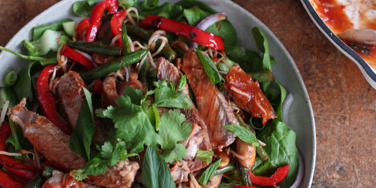 sweet chilli thai beef salad