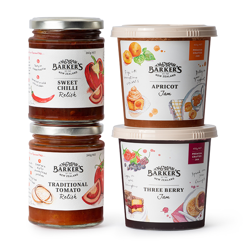 Barker's - Two Jams and Two Chutney Pack