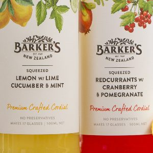 New 500ml fruit cordials