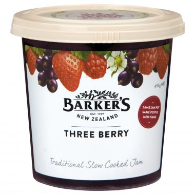 Barker's of New Zealand Three Berry Jam