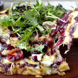 Chicken, Brie & Plum Pizza