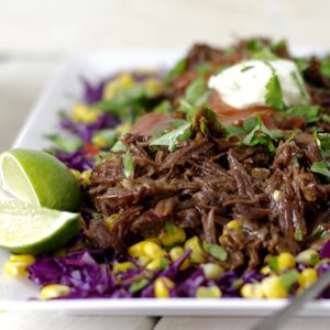 Pulled Beef with Slaw