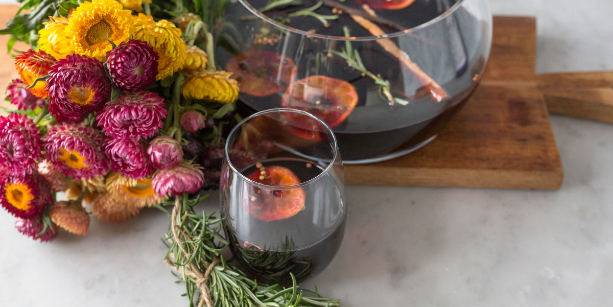 Rosemary & Passionfruit Mulled Wine