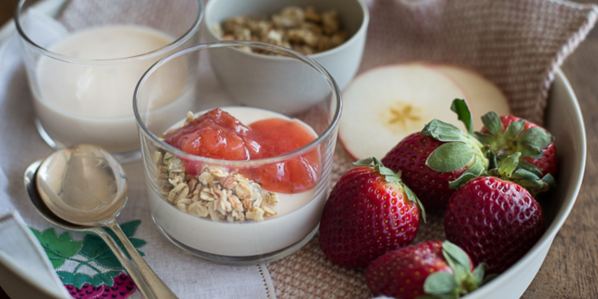 Strawberry & Apple Panna Cotta